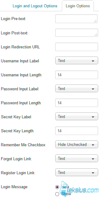Login Options