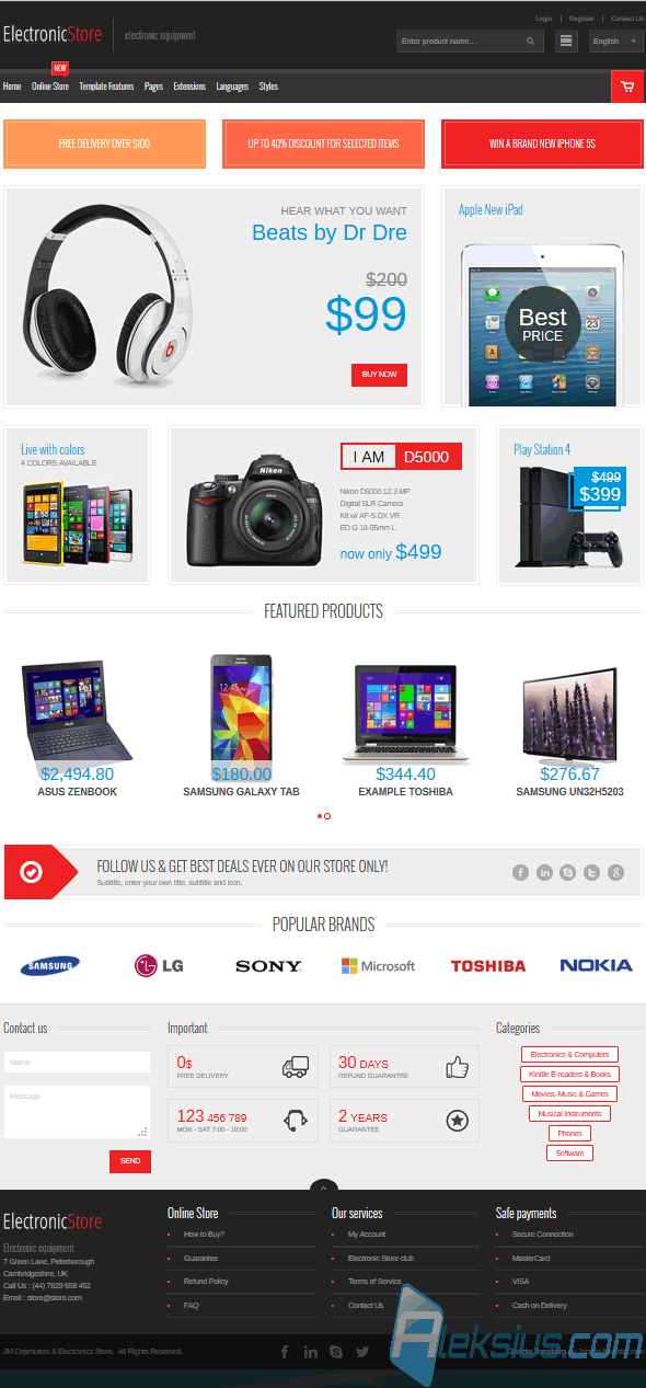 JM Computers and Electronics VirtueMart Storeу